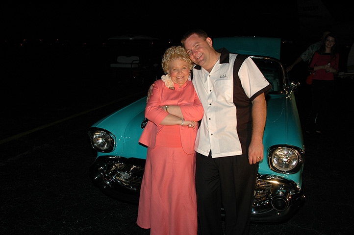 Guy Hill Jr. with his mother