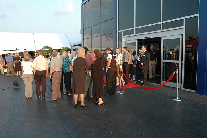 view of event from outside